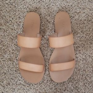 J Crew sz 8 Tan Easy Slide Sandals